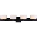 "Essence Collection 4-Light 30"" Oil Rubbed Bronze Vanity with Dusty White Glass 9004DWOI"