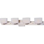 "Essence Collection 4-Light 30"" Satin Nickel Vanity with Satin White Glass 9004SWSN"