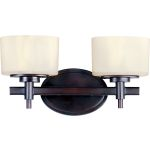 "Lola Collection 2-Light 13"" Oil Rubbed Bronze Vanity with Dusty White Glass 9022DWOI"