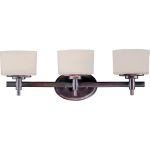 "Lola Collection 3-Light 22"" Oil Rubbed Bronze Vanity with Dusty White Glass 9023DWOI"