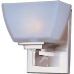 "Angle Collection 1-Light 6"" Satin Nickel Vanity with Satin White Glass 9031SWSN"