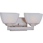 "Angle Collection 2-Light 13"" Satin Nickel Vanity with Satin White Glass 9032SWSN"