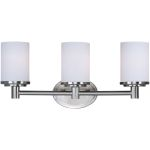 "Cylinder Collection 3-Light 20"" Satin Nickel Vanity with Satin White Glass 9053SWSN"