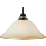 "Essentials Collection 1-Light 12"" Oil Rubbed Bronze Pendant with Wilshire Glass 91061WSOI"