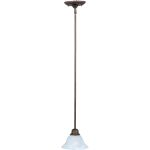 "Pacific Collection 1-Light 7"" Kentucky Bronze Mini Pendant with Marble Glass 91068MRKB"