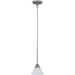"Pacific Collection 1-Light 7"" Pewter Mini Pendant with Marble Glass 91068MRPE"