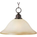"Essentials Collection 1-Light 11"" Oil Rubbed Bronze Pendant with Wilshire Glass 91076WSOI"