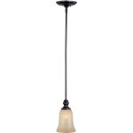 "Infinity Collection 1-Light 6"" Oil Rubbed Bronze Mini Pendant with Wilshire Glass 91305WSOI"