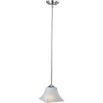 "Aurora Collection 1-Light 10"" Satin Nickel Mini Pendant with Frosted Glass 92090FTSN"