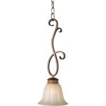 "Fremont Collection 1-Light 21"" Platinum Dusk Mini Pendant with Wilshire Glass 92240WSPD"