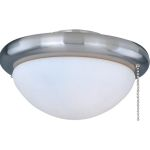 Basic-Max Collection 1-Light Satin Nickel Light Kit with White Glass FKT206SN