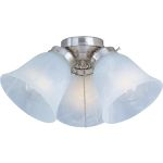 Basic-Max Collection 3-Light Satin Nickel Light Kit with Marble Glass FKT207SN