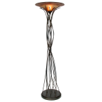 Light On Life Collection 1-Light 74In. Caramel / Black Floor Lamp