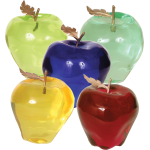 "Accents Collection Set of 5 Gold Decor ""Apples"" 534635"