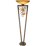 Free Wheeling Collection 1-Light 71In. Golden Ochre Floor Lamp