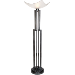 On Collection 1-Light 74In. Weathered Steel Floor Lamp