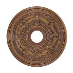 "Livex Lighting 22"" Crackled Greek Bronze Ceiling Medallion 8200-30"