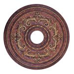 "Livex Lighting 22"" Verona Bronze Ceiling Medallion with Aged Gold Leaf Accents 8200-63"