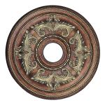 "Livex Lighting 22"" Palacial Bronze Ceiling Medallion with Gilded Accents 8200-64"