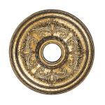 "Livex Lighting 22"" Vintage Gold Leaf Ceiling Medallion 8200-65"