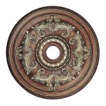"Livex Lighting 30"" Palacial Bronze Ceiling Medallion with Gilded Accents 8210-64"