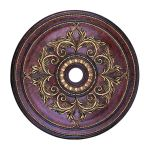 "Livex Lighting 40"" Verona Bronze Ceiling Medallion with Aged Gold Leaf Accents 8211-63"