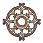 "Livex Lighting 23"" Palacial Bronze Ceiling Medallion with Gilded Accents 8216-64"