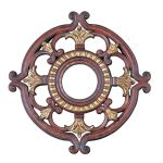 "Livex Lighting 18"" Verona Bronze Ceiling Medallion with Aged Gold Leaf Accents 8218-63"