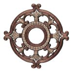 "Livex Lighting 18"" Palacial Bronze Ceiling Medallion with Gilded Accents 8218-64"