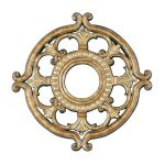 "Livex Lighting 18"" Vintage Gold Leaf Ceiling Medallion 8218-65"