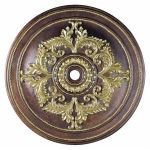 "Livex Lighting 60"" Palacial Bronze Ceiling Medallion with Gilded Accents 8229-64"