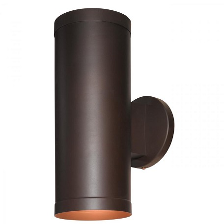 Bronze / Clear 2 Light Ambient Lighting Outdoor Wall Sconce From The Poseidon Collection