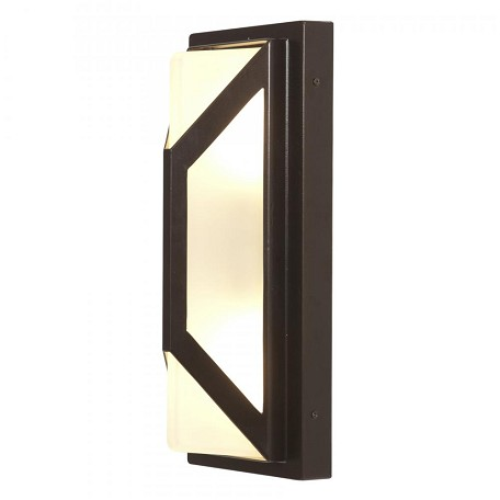 Bronze / Frosted 2 Light Ambient Lighting Marine Grade Wet Location Outdoor Wall Sconce From The Nyami Collection