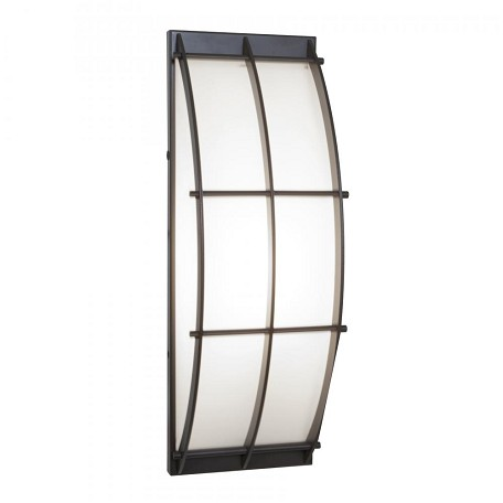 Bronze / Opal 14.75In. Length 1 Light Ambient Lighting Outdoor Wall Sconce From The Tyro Collection