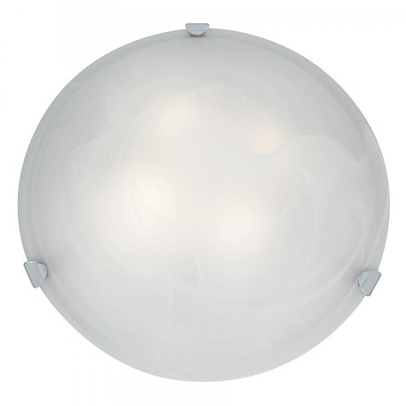 Brushed Steel / Alabaster Mona 4 Light Flush Mount Ceiling Fixture