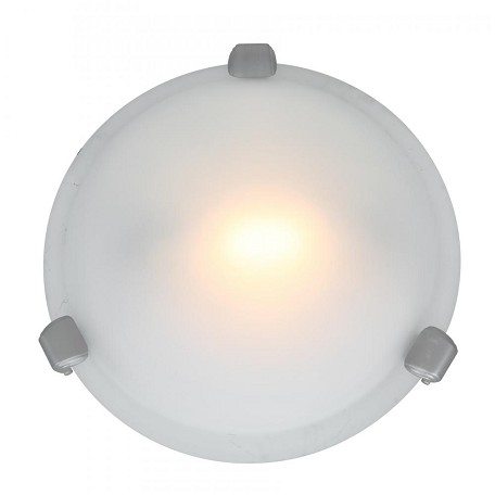 "Nimbus Collection 8"" 1-Light Satin Flush Mount with Frosted Glass 50020-SAT/FST"