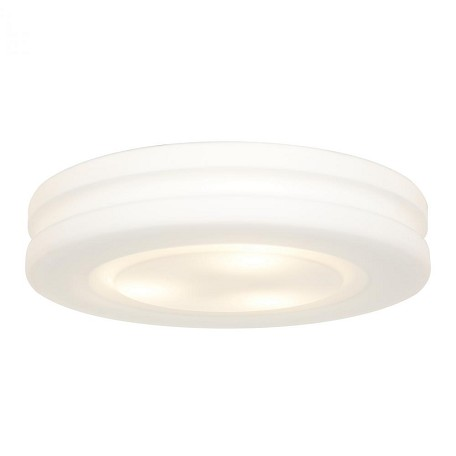 "Altum Collection 15"" 3-Light White Flush Mount with Opal Glass 50188-WH/OPL"