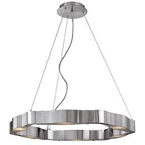 Access Six Light Bs  Fst  Glass Multi Light Pendant - 62317-BS/FST