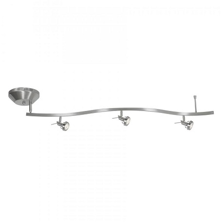 Matte Chrome Three Light Down Lighting Offset Semi Flush Spotlight Ceiling Fixture From The Versahl Collection