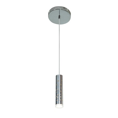 Chrome / Acrylic Rain 1 Light Mini Pendant