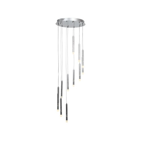 Access Twelve Light Acr  Glass Ch  Drum Shade Pendant - 70052LED-CH/ACR