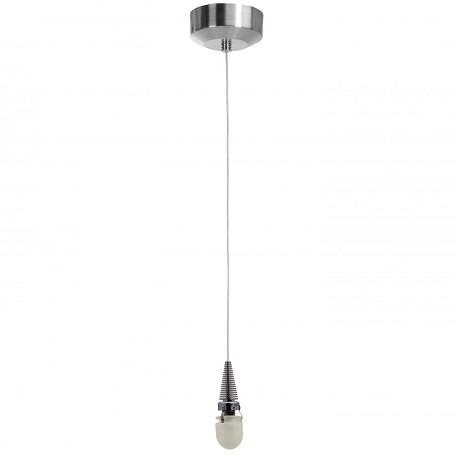 Zeta Collection 1-Light Brushed Steel Pendant 903RT-BS