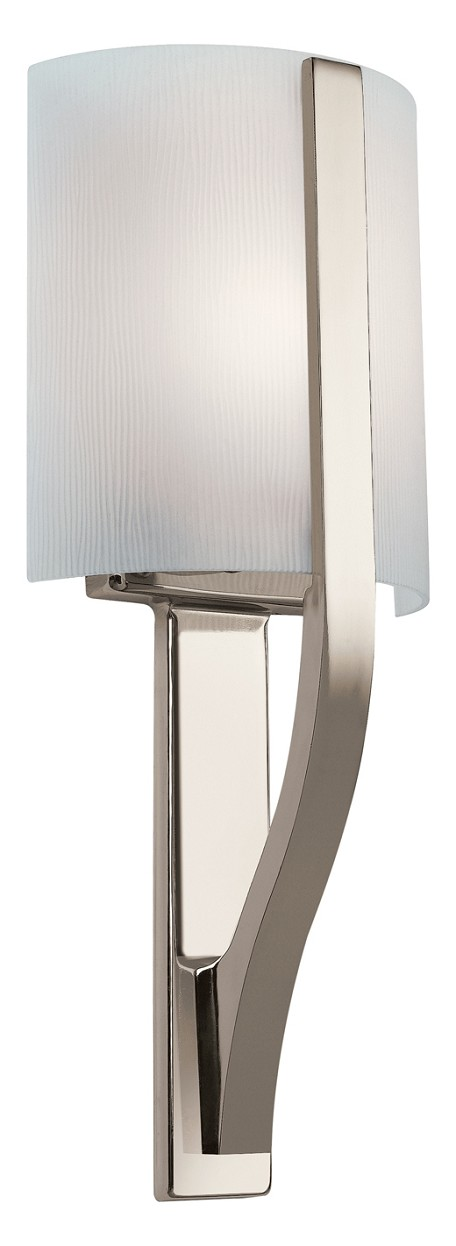 Polished Nickel Modern Single Light Fluorescent Wall Sconce from the Freeport Collection