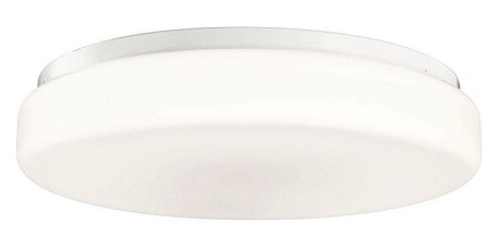Kichler One Light White Bowl Flush Mount - 10891WH
