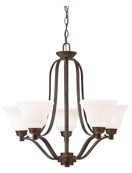 Kichler Five Light Olde Bronze Up Chandelier - 1783OZ