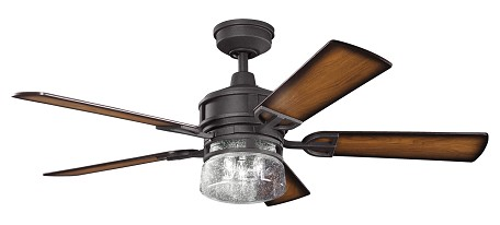 Kichler Three Light Distressed Black Ceiling Fan - 300120DBK