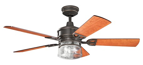 Kichler Three Light Olde Bronze Ceiling Fan - 300120OZ