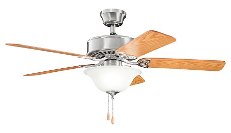 Kichler Three Light Brushed Stainless Steel Ceiling Fan - 330110BSS