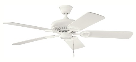 "Sutter Place Collection 52"" Satin Natural White Ceiling Fan with Satin Natural White Blades 339011SNW"
