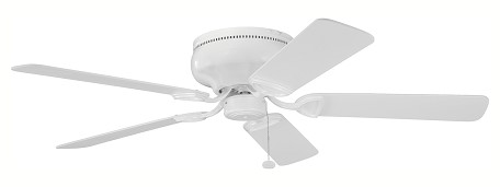 "Stratmoor Collection 52"" Powder Coat White Ceiling Fan with White Blades 339022WH"